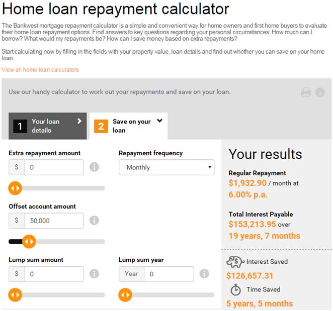Anz Interest Only Loans Calculator