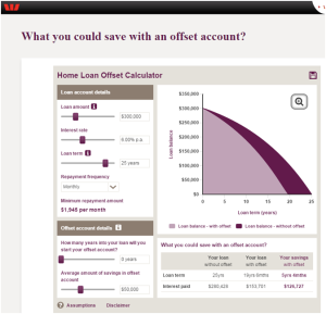 Westpac-Home-Loan-Offset-Calculator