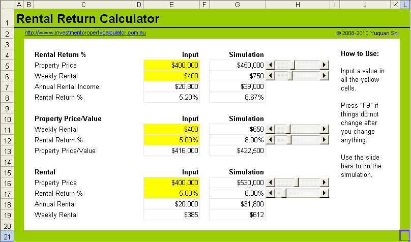property investment return calculator excel - Monza berglauf-verband com